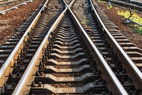 Papiers peints Voies ferrées Railroad track.