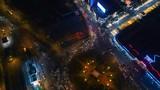 Ho Chi Minh Vietnam aerial Top down view Circular traffic - 176174362