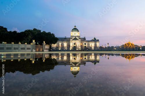 Bangkok City - Dusit Palace , Ananta Samakom Throne Hall in Bangkok , beautiful Poster