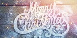 Merry Christmas text with artificial snow - 176187523