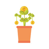 colorful plant over white background  vector illustration