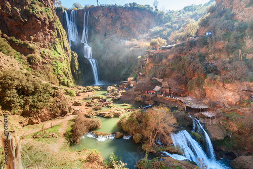 Deurstickers Marokko Ouzoud Waterfall. Morocco