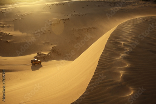 Poster Honing Sand mountains in the desert