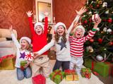 little kids in christmas - 176198321