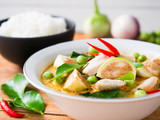 Chicken red curry traditional  Thai food. - 176204126