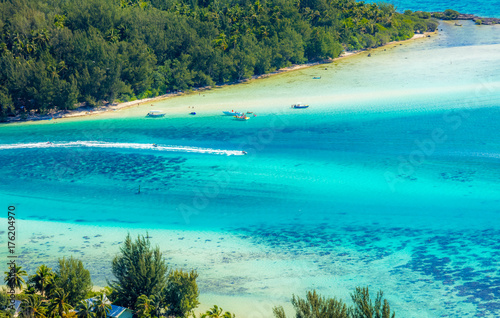 Keuken foto achterwand Tropical strand ilot