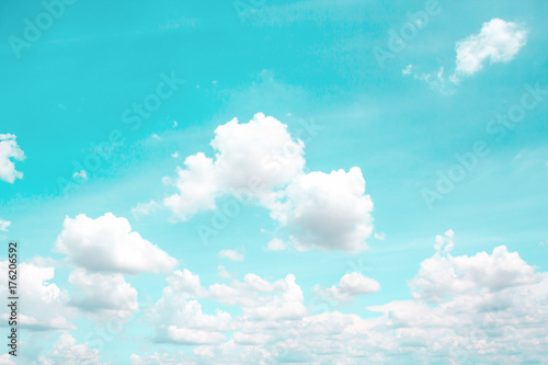 In de dag Turkoois Clouds with blue sky background.