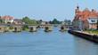 Medieval bridge over the Danube at Regensburg