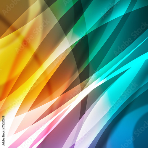 Foto op Aluminium Abstract wave abstract background with lines