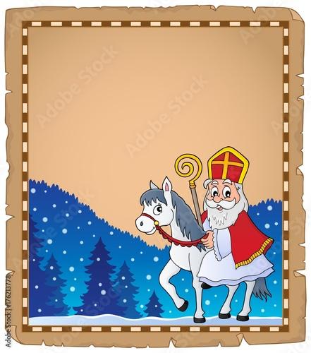 Deurstickers Voor kinderen Parchment with Sinterklaas theme 5