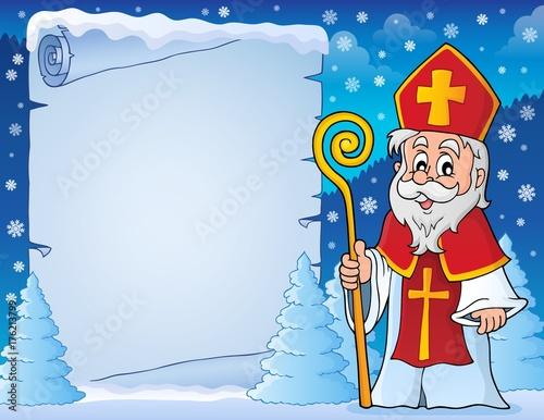 Deurstickers Voor kinderen Parchment with Sinterklaas theme 6