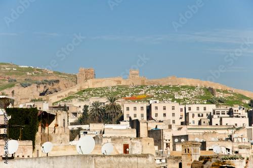 Fotobehang Marokko City Wall of Fez - Morocco