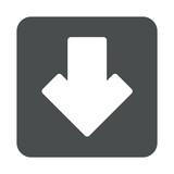 Icono plano flecha abajo en cuadrado gris - 176219164