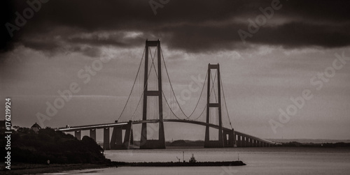 The Great Belt bridge. Shot in Denmark Poster
