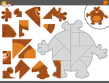 jigsaw puzzle game with bear animal - 176220311