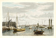 Old view of Boston from City Point. By Bennet, publ. in New York ca. 1833