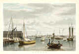 Old view of Boston from City Point. By Bennet, publ. in New York ca. 1833 - 176221145