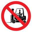 Danger forklift trucks sign