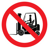 Danger forklift trucks sign - 176221348