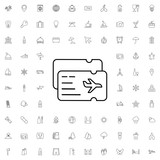 Air ticket icon. set of outline tourism icons. - 176222934