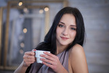 girl with coffee - 176224137