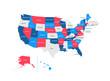 United States of America Regions Map