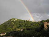 arcobaleno in paese