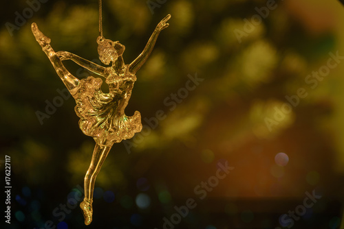 Glass ballet dancer on Dark background Poster