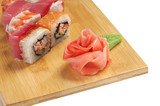 Traditional Asian food sushi - 176228789