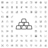 Gold icon. set of outline finance icons. - 176230315