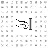 Atm and hand with coin icon. set of outline finance icons. - 176230320