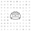 Work helmet icon. set of outline construction icons.