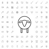 Sheep icon. set of outline agriculture icons. - 176238154