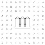 Fence icon. set of outline agriculture icons. - 176238749
