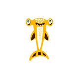Hammerhead shark fish hand drawn vector Illustration