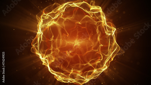 Yellow futuristic sci-fi plasma form