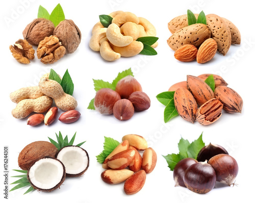 Poster Set of nuts.