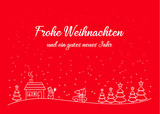 Weihnachten Karte Vorlage mit Winter Landschaft - 176245147
