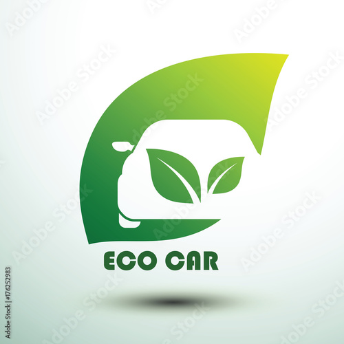 Fridge magnet Eco car vector
