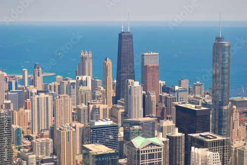 Poster Chicago Chicago Skyline from above.