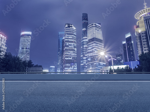 Urban architecture and roads Poster