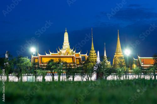 Wat phra keaw at night in Bangkok, Thailand. Poster