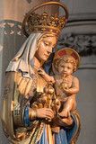 LONDON, GREAT BRITAIN - SEPTEMBER 17, 2017: The carved statue of Madonna in church St. Barnabas. - 176260364