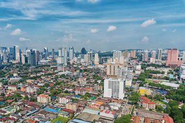Top view of Kuala Lumpur city, Malaysia