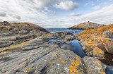 Rocky landscape on island in Stockholm archipelago. - 176273741