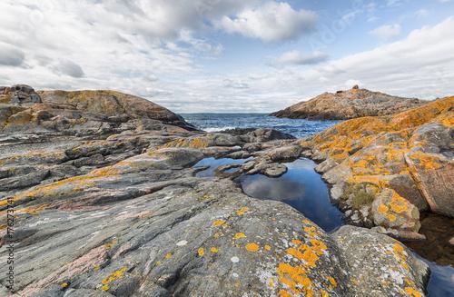 Rocky landscape on island in Stockholm archipelago. Poster
