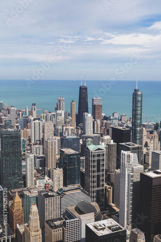 Fotobehang Chicago Windy City Skyline