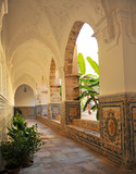 Cloister of the Virgen de Regla Sanctuary, Chipiona, Cadiz province, Spain - 176281717