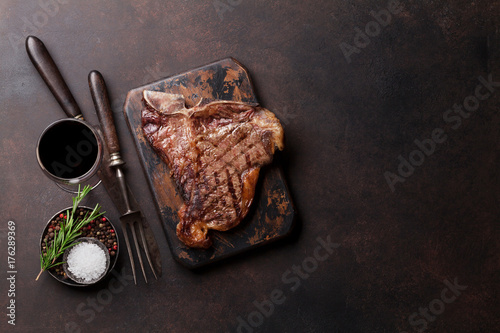 Foto op Aluminium Steakhouse T-bone steak