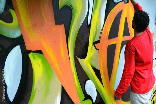 Aluminium Graffiti Graffiti on a fence.